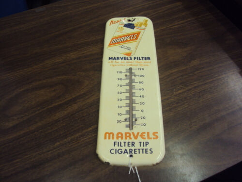 "VINTAGE MARVELS CIGARETTES 12"" THERMOMETER    254-T"