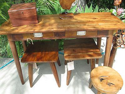 Modern  Nakashima Style ACACIA  WOOD oil finish console/foie  table  NEW for sale  Winnetka