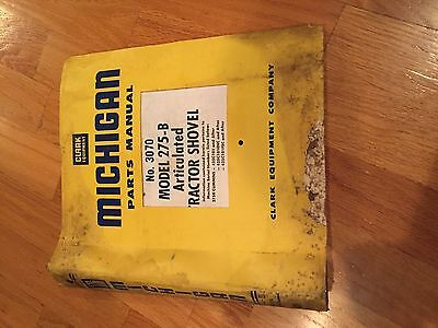 Clark Michigan Shovel Tractor 275-b 275 Wheel Loader Parts Manual Shovel Catalog