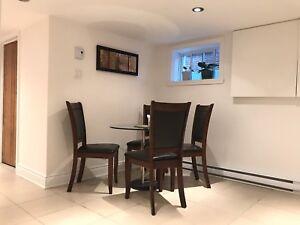 Duplex 3½ basement for rent (Côte-des-Neiges)