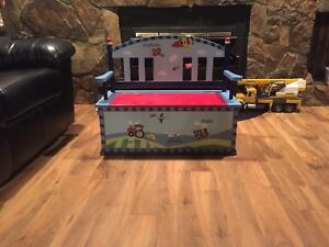 Boys toy box and bench