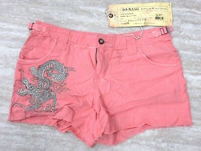 NEW Da Nang Women's Summer Shorts Detail Front Dragon CRAYON RSS17901160 SMALL S