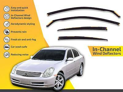 Wind Deflectors compatible with Infiniti G35 4 Doors 2003-2006 4pc