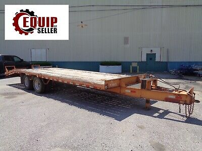2013 Hudson Bros Trailer Tagalong Equipment Flatbed Htd18d 20ft Deck