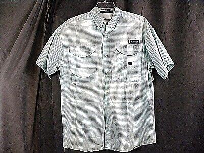 4882af31f72 Mens COLUMBIA PFG SUPER BONEHEAD Omin-Shade Vented Fishing Shirt Size M 4  pocket