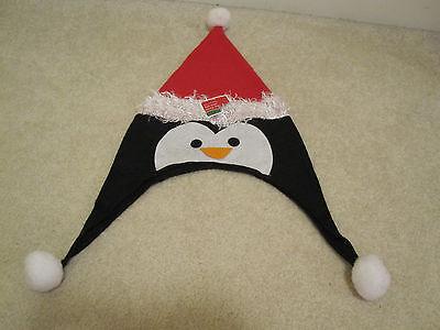 Felt penguin santa hat Christmas new with tags santa holiday
