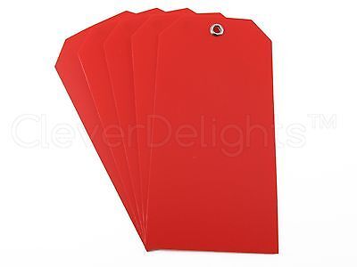 200 Red Plastic Tags - 4.75 X 2.375 - Tearproof - Inventory Id Price Tags