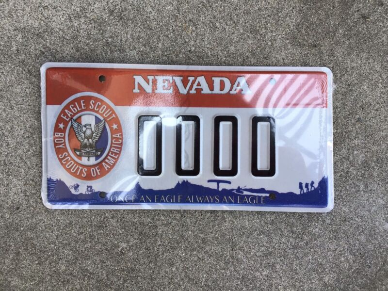 NEVADA - BOY SCOUTS OF AMERICA - EAGLE SCOUT - SAMPLE - LICENSE PLATE