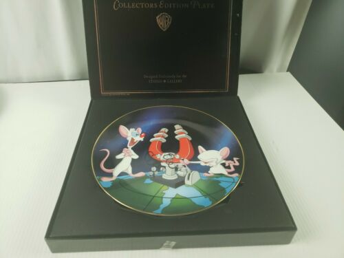 Warner Bros Animaniacs Pinky & the Brain Limited Ed Collectors Plate