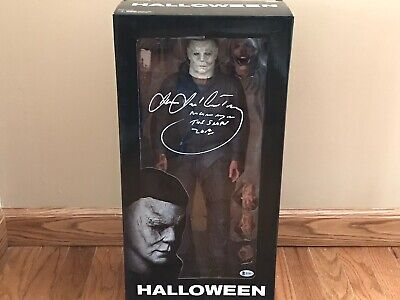 "Halloween Movies Original Name (Halloween Michael Myers Signed 18"" Neca Action Figure James Jude Courtney)"