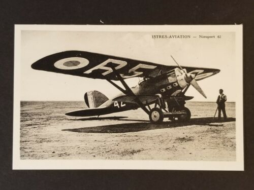 Mint Nieuport Delage 62 Sesquiplane Istres Aviation Real Photo Postcard Cover
