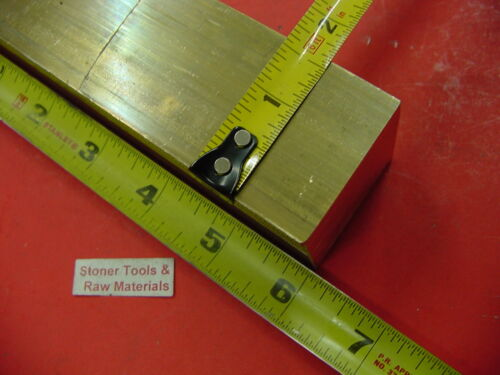 """1-5/8"""" x 1-5/8"""" C360 BRASS SQUARE BAR 6"""" long Solid 1.625"""" Flat Mill Stock H02"""