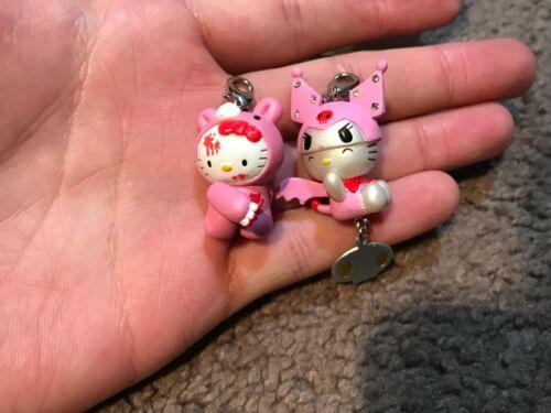 Hello Kitty Gloomybear Kuromi Keychains 2x Pink Japan