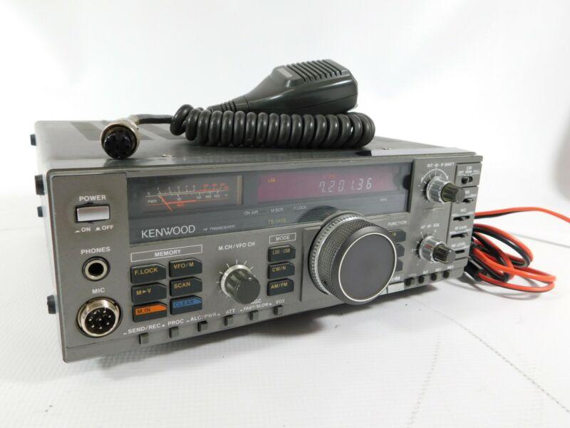 Kenwood TS-140S Ham Radio HF Transceiver w/ Mic (works great)