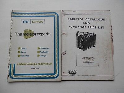 2 Radiator catalogues MR SERVICES 1980 INRAD SERVICES 1983 original part numbers
