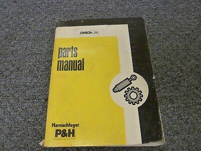 Harnischfeger Ph Omega-20 Rough Terrain Crane Parts Catalog Manual Book