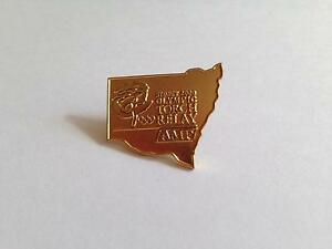 Sydney 2000 Olympic NSW torch relay pin badge AMP