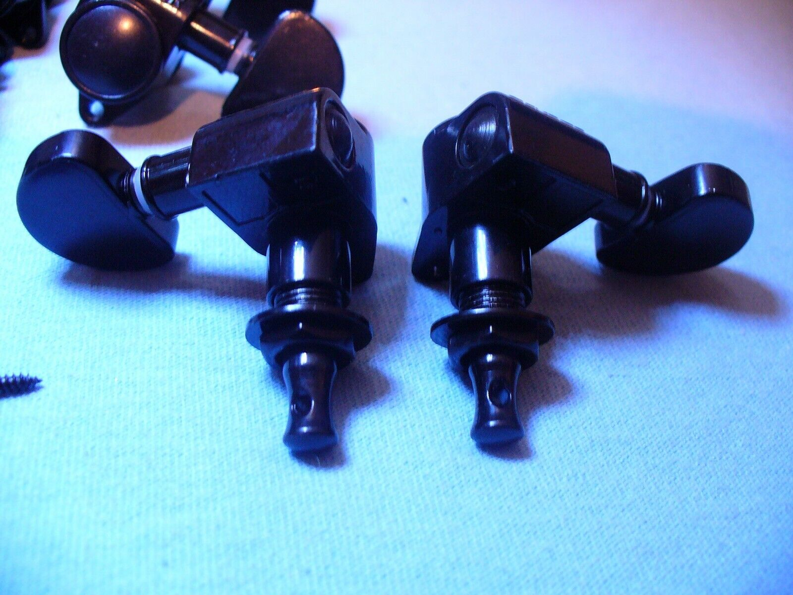BLACK GROVER TUNERS 3X3 SET ELECTRIC ACOUSTIC GUITAR MACHINE HEAD TUNING PEGS  - $42.95