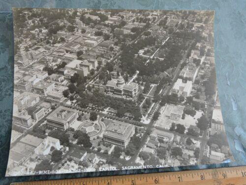 Orig 1938 Aerial 7x9 Official Army Photo Downtown Sacramento California Capitol