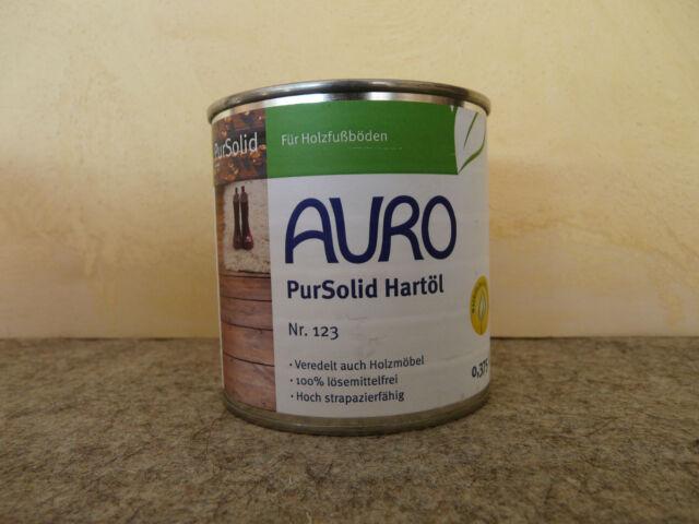Auro 123 PurSolid Hartöl 0,75 Liter füralle Hölzer, Fussböden Holz und Kork