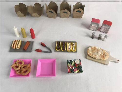 Battat Our Generation Pizza Pretzel Taco Hot Dog Shop Lot 18 Doll Accessories - $19.99