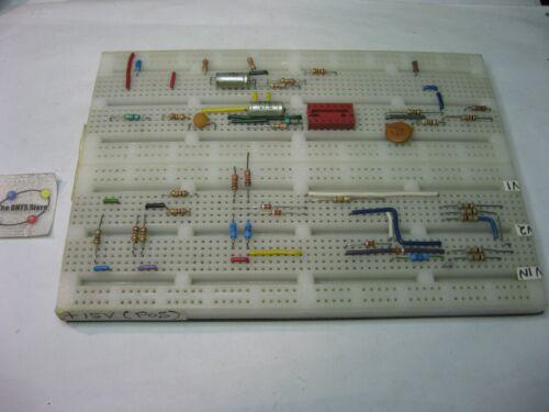 Solderless Breadboard Proto-Board 6.5x4.5 Metal Base fits HP Logic Lab 5035 Used