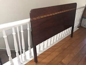 Vintage headboard double bed