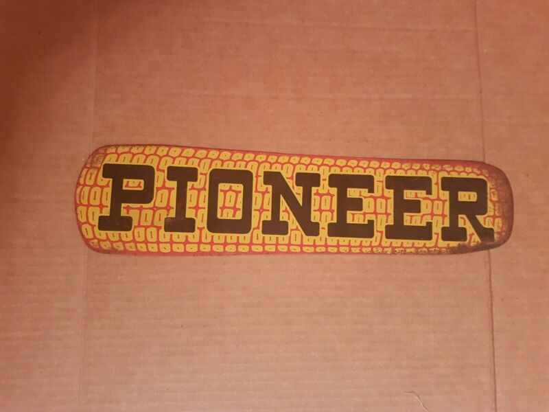 Antique Pioneer Seed Tin Corn Sign! Vintage Advertising!