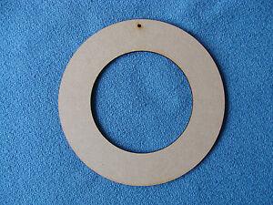 Wooden MDF Rings Craft Shapes Blanks 7.5cm 10cm 12.5cm 15cm  20cm x 3mm