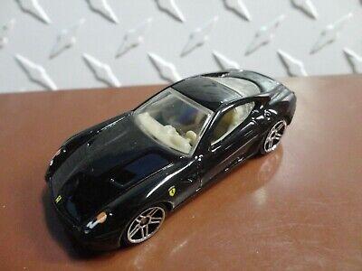 Loose Mint Hot Wheels Black Ferrari 599 GTB4 w/PR5 Spoke Wheels