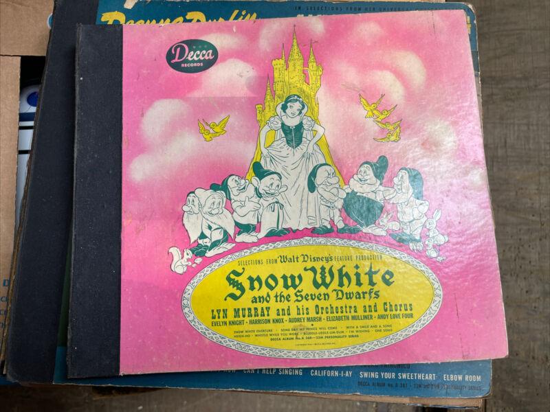 (#192) 1944 Decca 78 RPM Record Set, Walt Disney, Snow White & the Seven Dwarfs