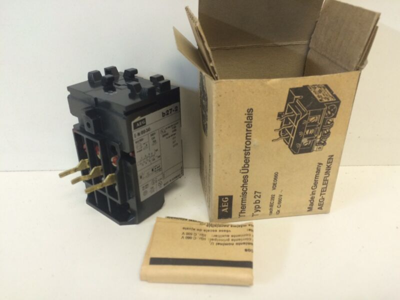 NEW OLD STOCK AEG .18-.28A THERMAL OVERLOAD RELAY E-NR 910-341-238 TYP B-27