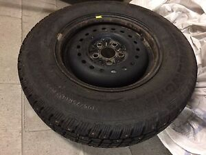 P195 75R14 Studded M&S Tires on Steel Rims