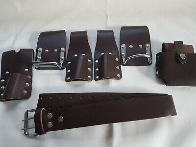 Scaffolding Leather Belt Full Tool Set Pockets 4 Scaffolder Diy Work Jobs