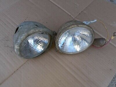 Old Tractor Driving Head Lights