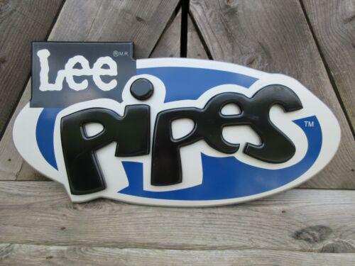 "Rare Lee Pipes Advertising Display Logo Sign Wood 34"" Nice"