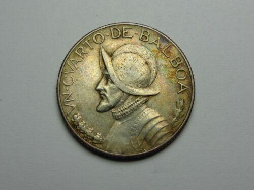 1930 PANAMA BALBOA SILVER 1/4 BALBOA KM# 11.1 XF VERY NICE! MUST SEE!!