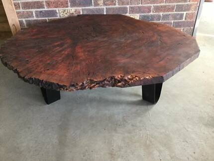 Rustic hand carved Red Gum coffee table Coffee Tables Gumtree