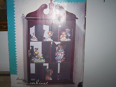 Home Trends Wall Hanging Cherry Curio Display Cabinet Cherry Curio Cabinets
