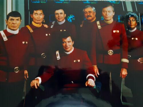 Great Star Trek Cast 11x14 color professional photo
