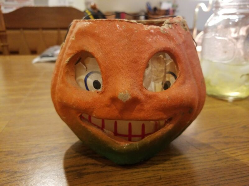 Vintage Papermache Pumpkin