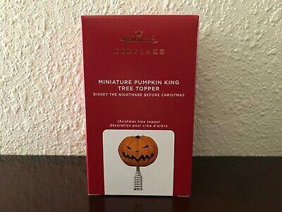 *Miniature Pumpkin King Tree Topper* 2020 Hallmark Keepsake Ornament~ NIB!~