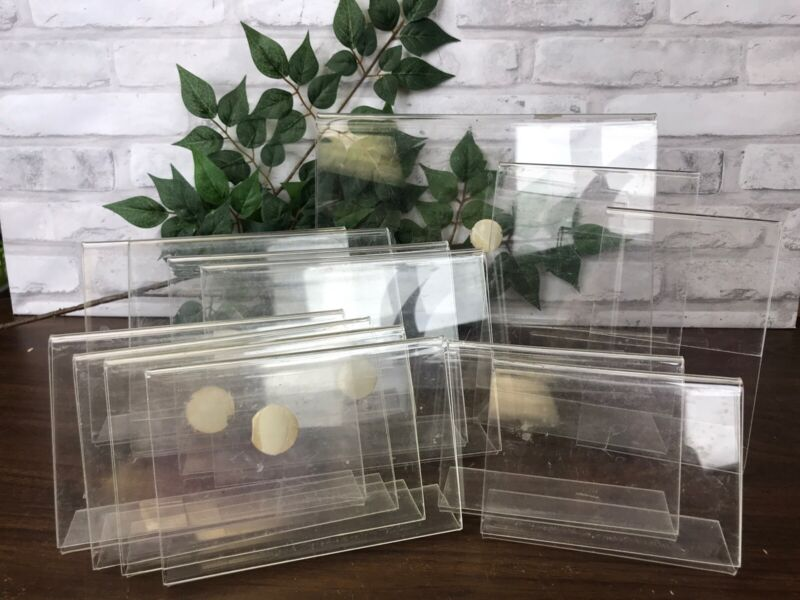 Clear Acrylic Sign Holders Bottom Load Plastic Display Frames 13 pc Asst Sizes