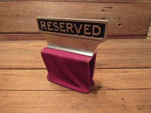 Vintage Church Mortuary Funeral Home RESERVED Weighted Sign Place Space Marker!