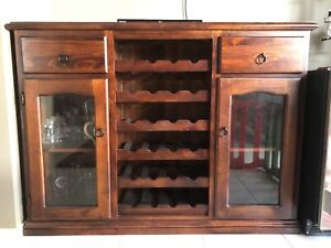 Home Bar / Wine Cabinet - Excellent Condition Mount Annan Camden Area Preview