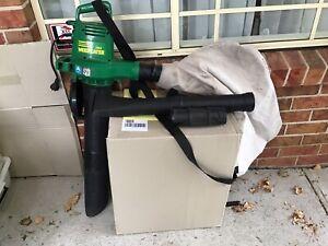 Garden power blower and vacuum.