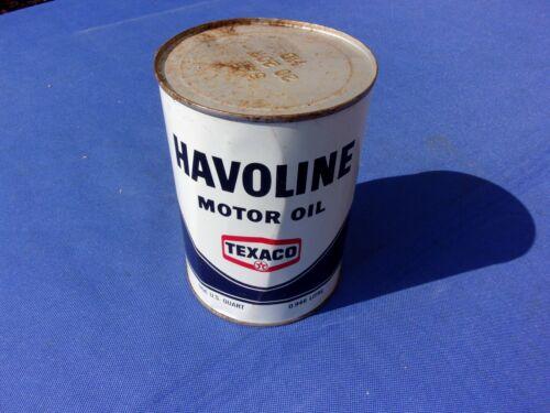 NOS Vintage Texaco Havoline Tin Quart Oil Can - NEW OLD STOCK FULL Dated 1967