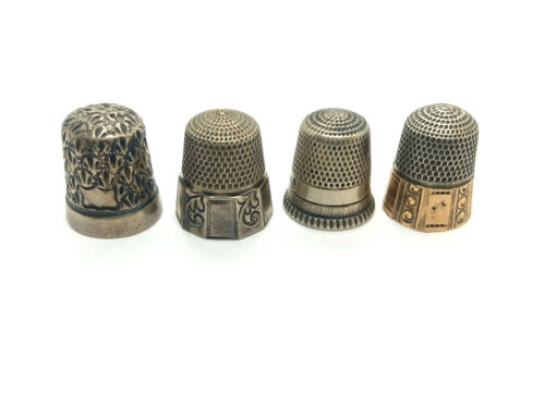 Antique GOLDSMITH STERN CO Sterling Silver Thimble Lot of 4