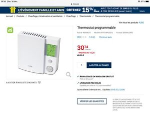 3 Thermostats programmables AUBE