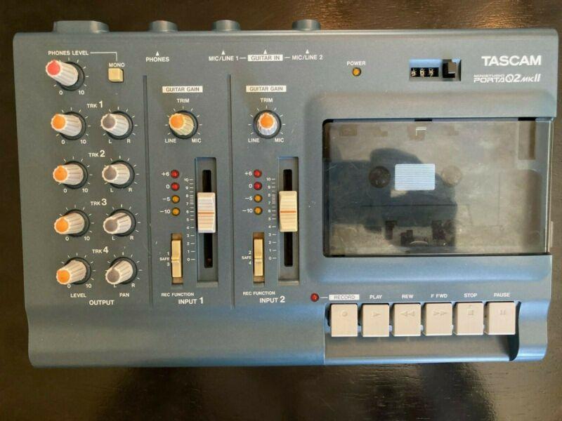 TASCAM Porta 02 Mini Studio 4 Track Cassette Recorder MKII